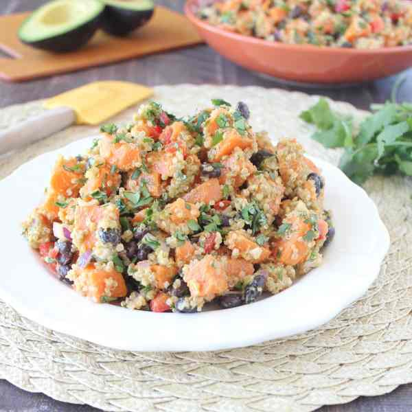 Mexican Quinoa Sweet Potato Salad Recipe