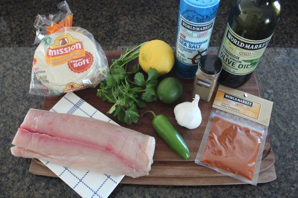 Mahi Mahi Fish Tacos Ingredients