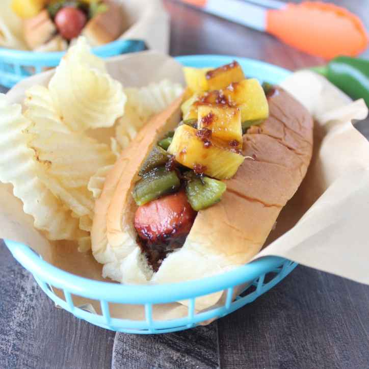 Grilled Pineapple Teriyaki Hot Dog Recipe
