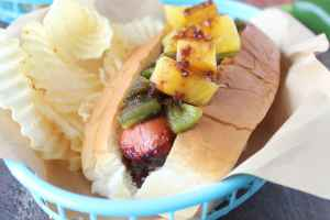 Grilled Pineapple Teriyaki Hot Dog Recipe