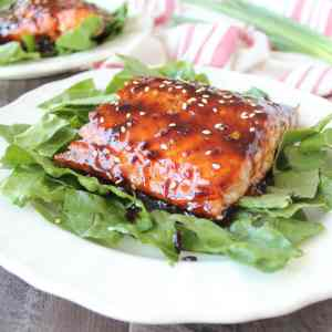Korean BBQ Grilled Salmon