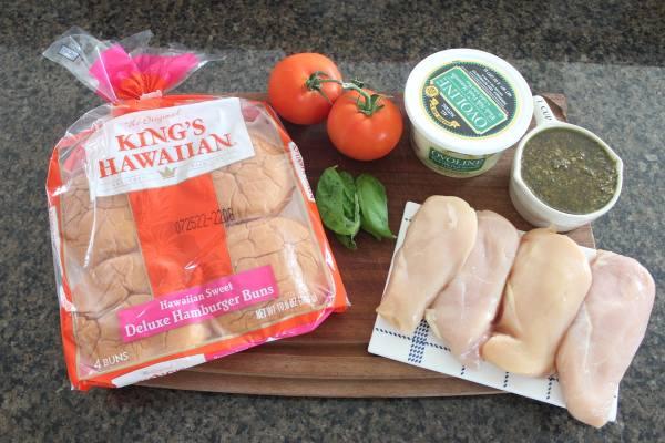 Caprese Grilled Chicken Sandwich Ingredients