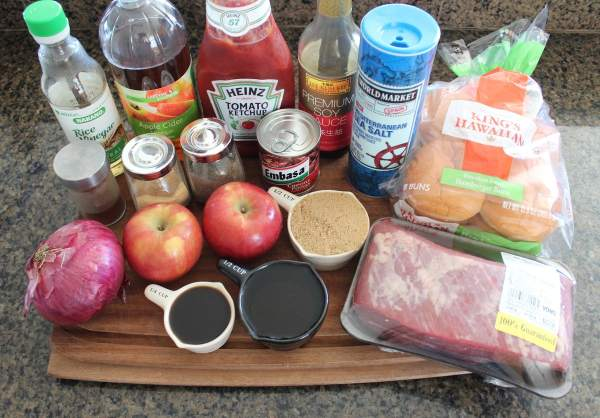 Slow Cooked Chipotle Apple BBQ Brisket Ingredients