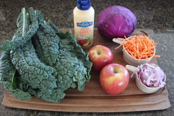 Kale Apple Slaw Ingredients