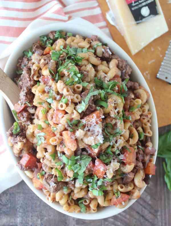Mediterranean Lamb & Mushroom Pasta Recipe