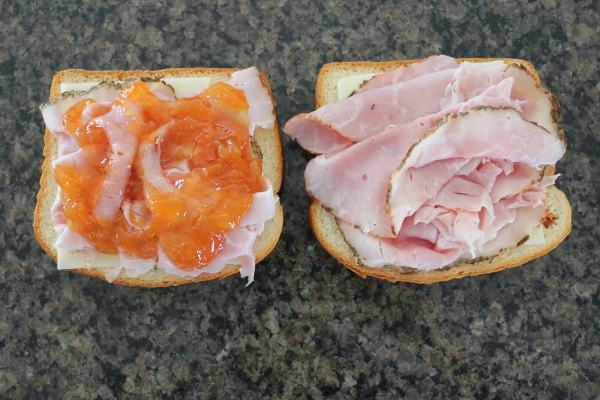 Apricot Ham and Cheese Sandwich Recipe