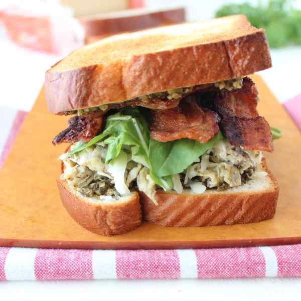Pesto Bacon & Egg Breakfast Sandwich Recipe