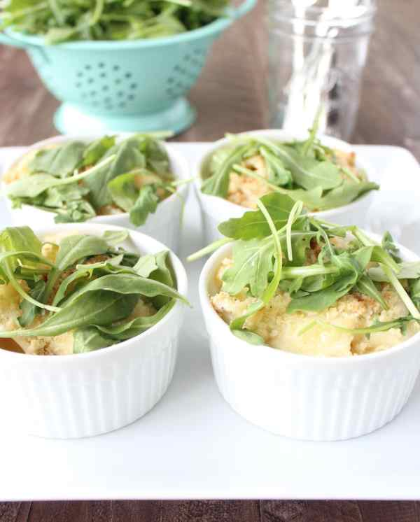 Cheesy Caesar Baked Pasta Cups
