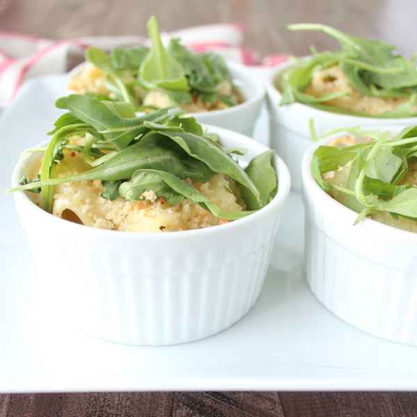 Baked Caesar Salad Pasta Cups