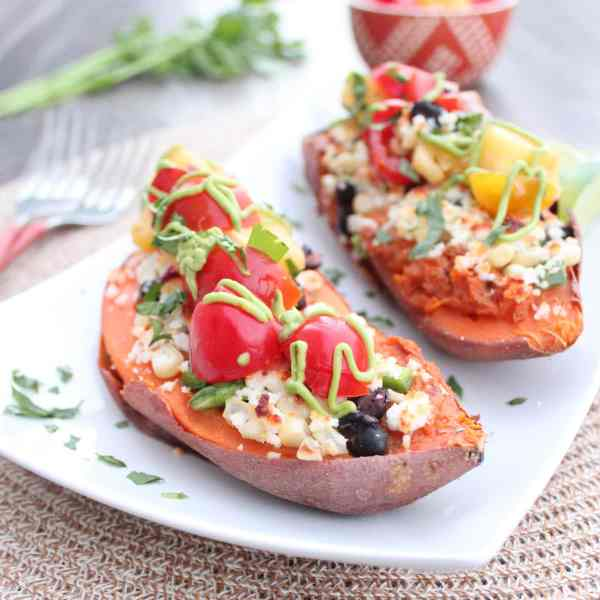 Gluten Free Mexican Stuffed Sweet Potatoes