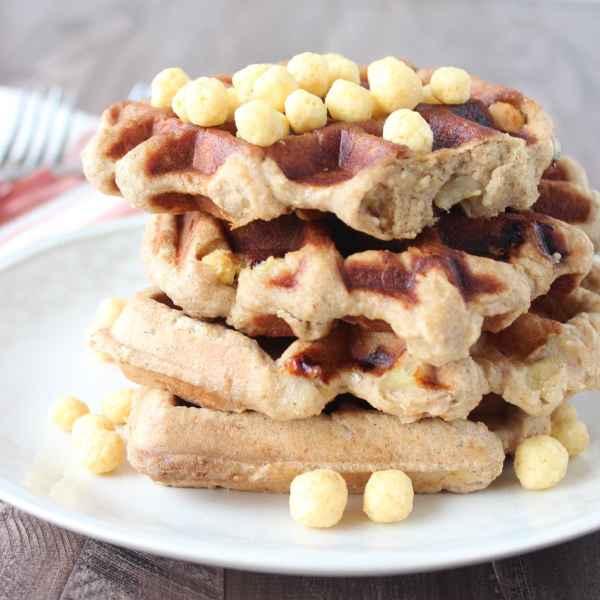 Gluten Free Peanut Butter Banana Waffles