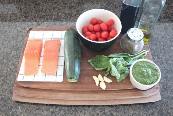 Pesto Baked Salmon Recipe Ingredients