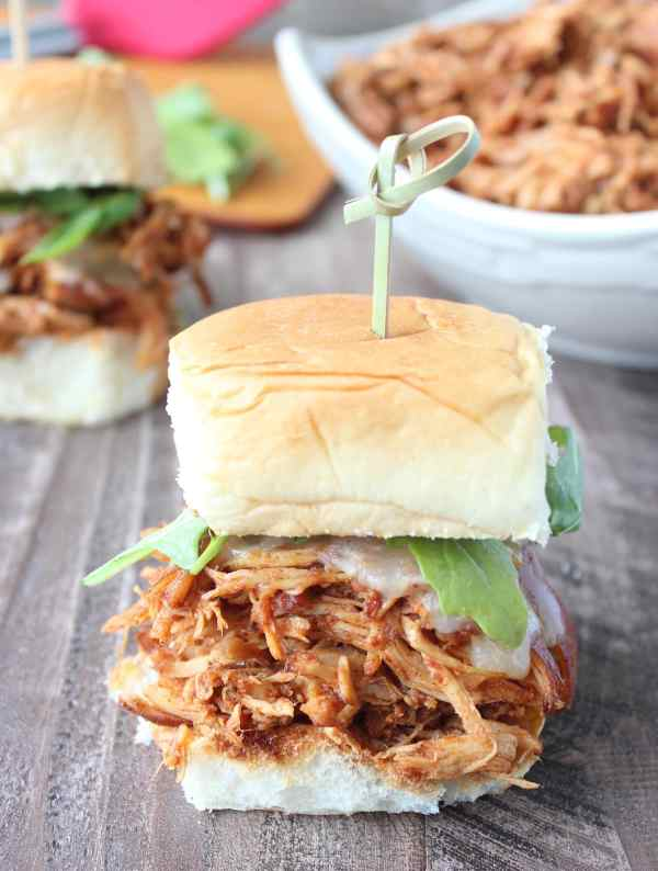 Slow Cooked Chipotle Maple Shredded Chicken Slider Recipe