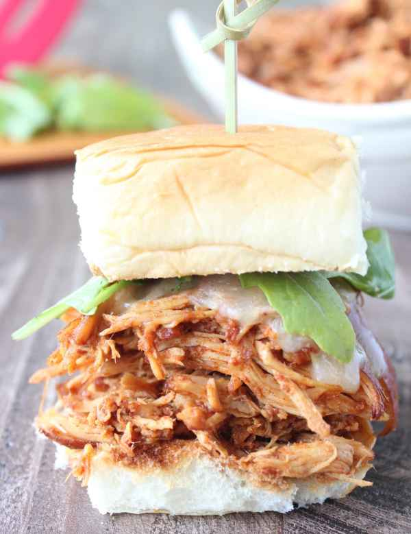 Slow Cooked Chipotle Maple Chicken Sliders