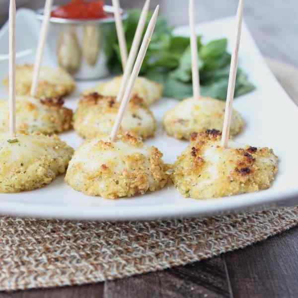Baked Mozzarella Cheese Bites