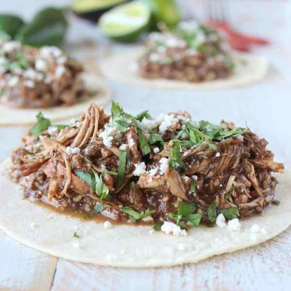 Slow Cooker Chicken Mole Tacos Recipe