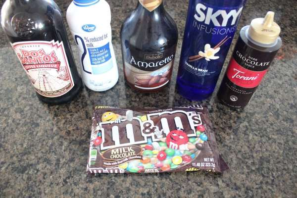 M&M Chocolate Martini Ingredients