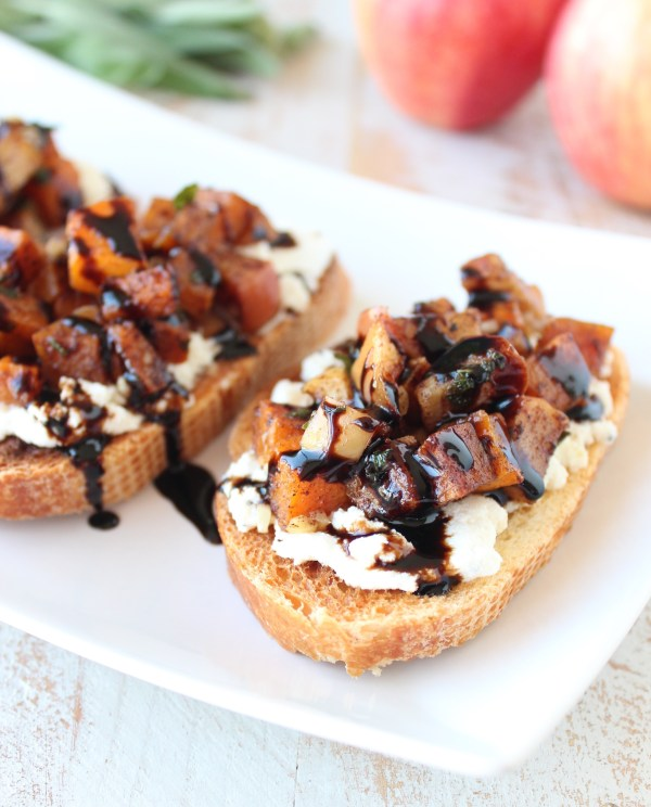 Butternut Squash Apple Bruschetta Recipe