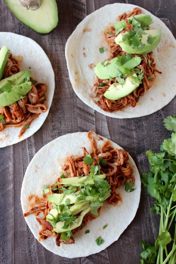 Sriracha Honey Pulled Pork Tacos