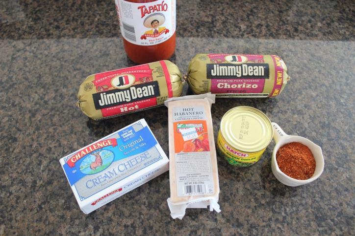 Cheesy Taco Sausage Balls Ingredients