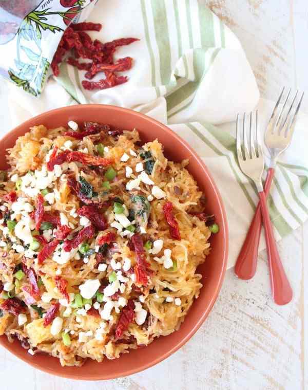 Vegetarian Mediterranean Spaghetti Squash Recipe
