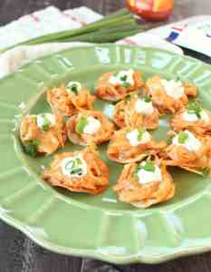 Mini Buffalo Chicken Tostadas