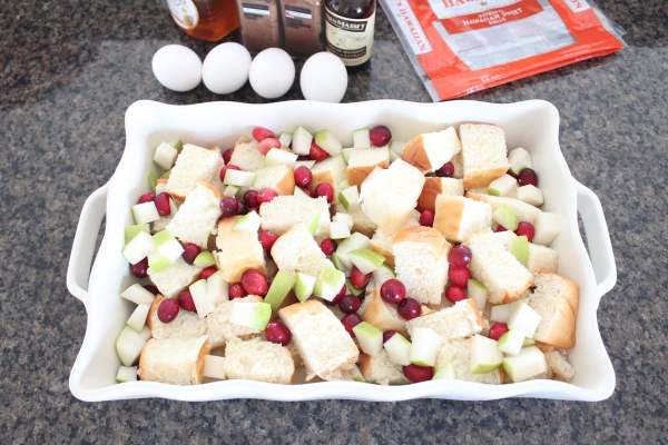 Cranberry Pear French Toast Bake Recipe