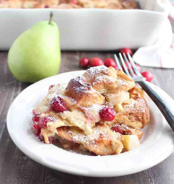 Cranberry Pear French Toast Bake