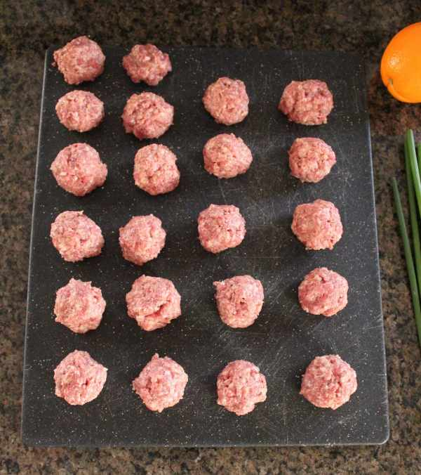 Chinese Orange Glazed Meatballs Recipe