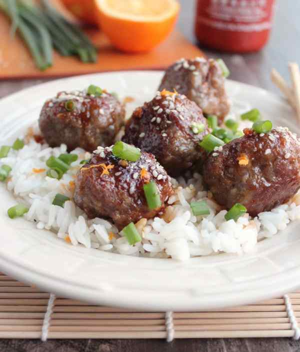 Chinese Orange Glazed Meatballs