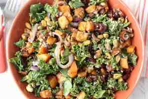 Roasted Butternut Squash Kale Salad Recipe
