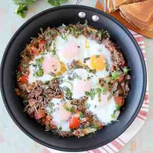 Italian Turkey & Egg Breakfast Skillet