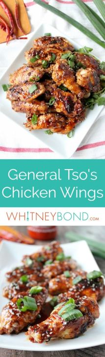 General Tso Chicken Wings are a delicious twist on the Chinese favorite, they're the perfect appetizer for game day or parties!