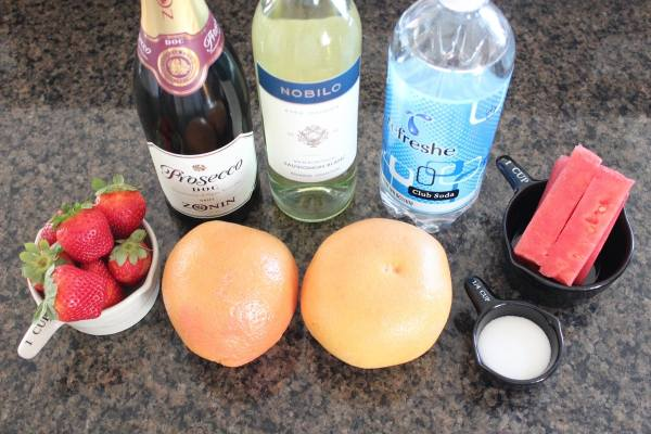 Sparkling Grapefruit Watermelon Sangria Ingredients