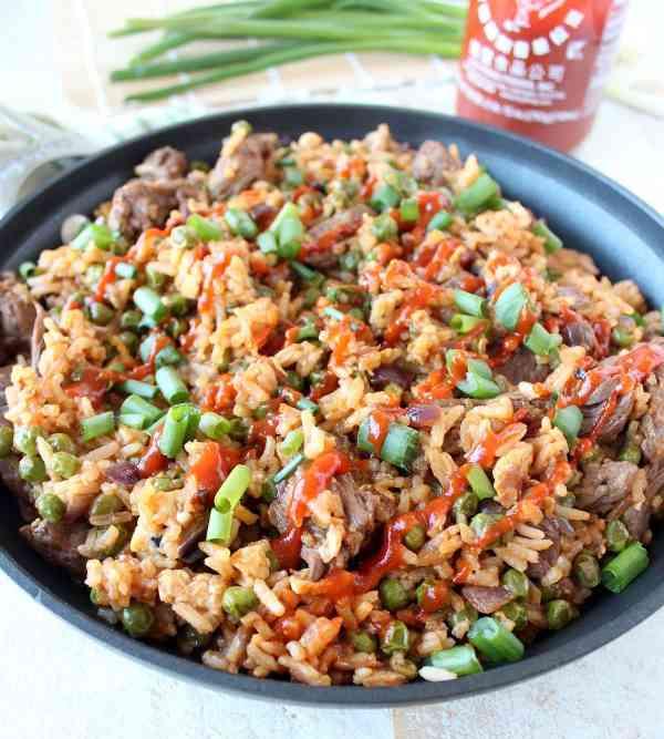 Sriracha Steak Fried Rice Recipe