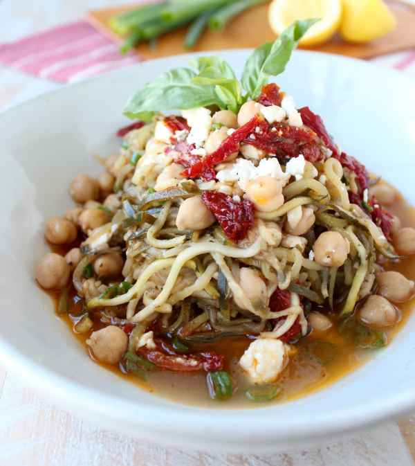 Greek Zucchini Noodles Recipe