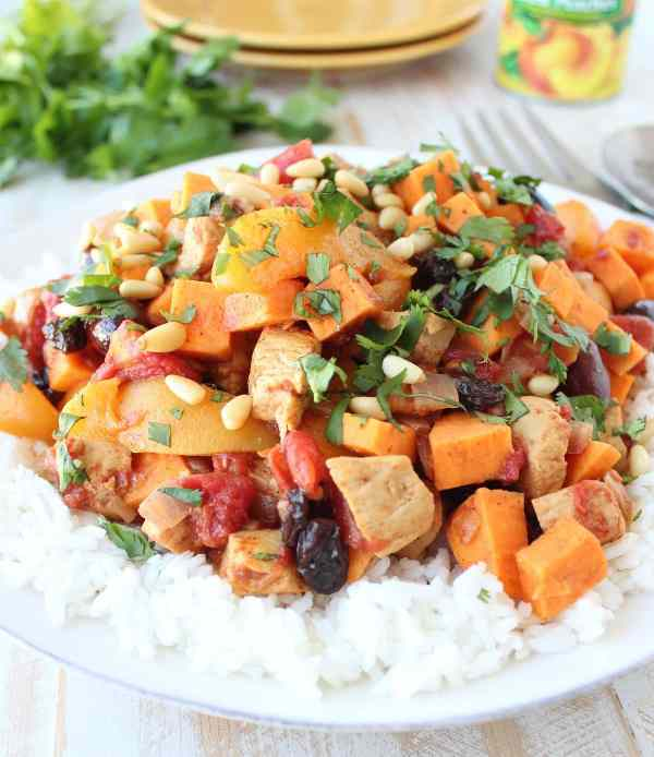 Moroccan Chicken & Peaches