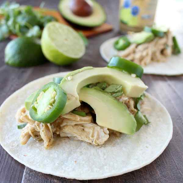 Slow Cooker Cilantro Lime Cumin Chicken Tacos Recipe
