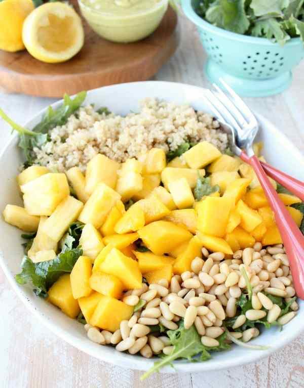 Pineapple Mango Kale Salad Recipe