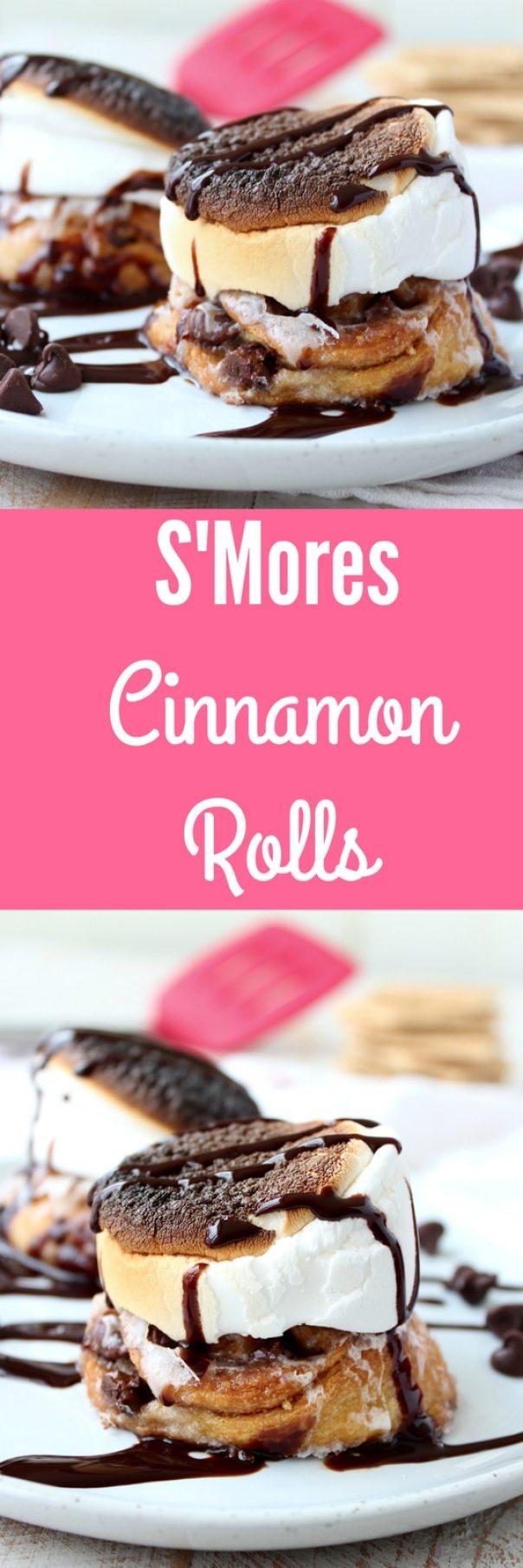 Smores Cinnamon Rolls Recipe