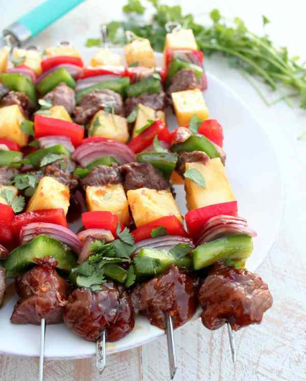 Grilled Teriyaki Steak Shish Kabob Recipe