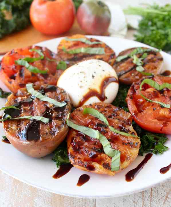 Grilled Tomato & Kale Salad Recipe