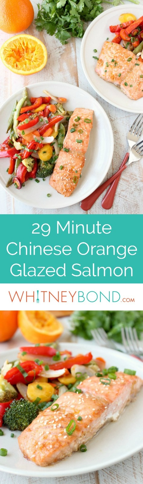 Orange glazed salmon foil dinner recipe whitneybond an easy chinese orange sauce is prepared brushed over orange glazed salmon and colorful vegetables forumfinder Image collections