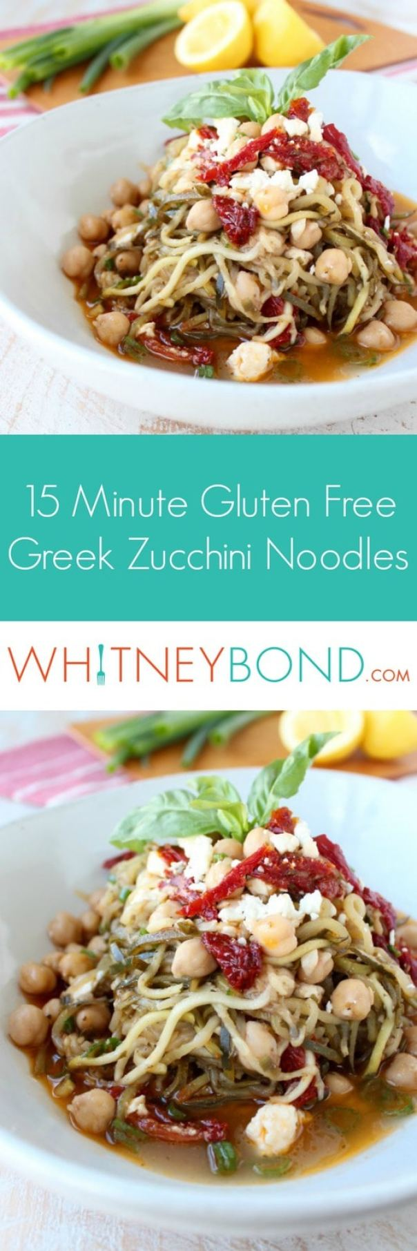 15 Minute Greek Zucchini Noodles Recipe