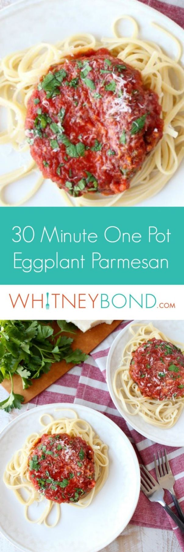 30 Minute One-Pot Easy Eggplant Parmesan Recipe