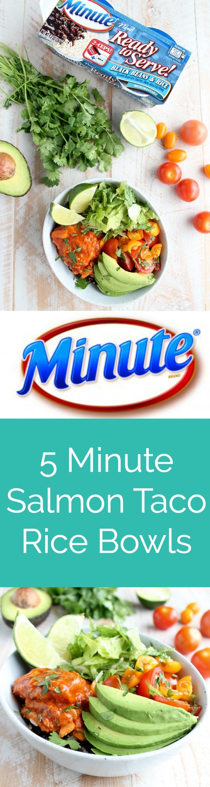 5 Minute Salmon Taco Rice Bowls