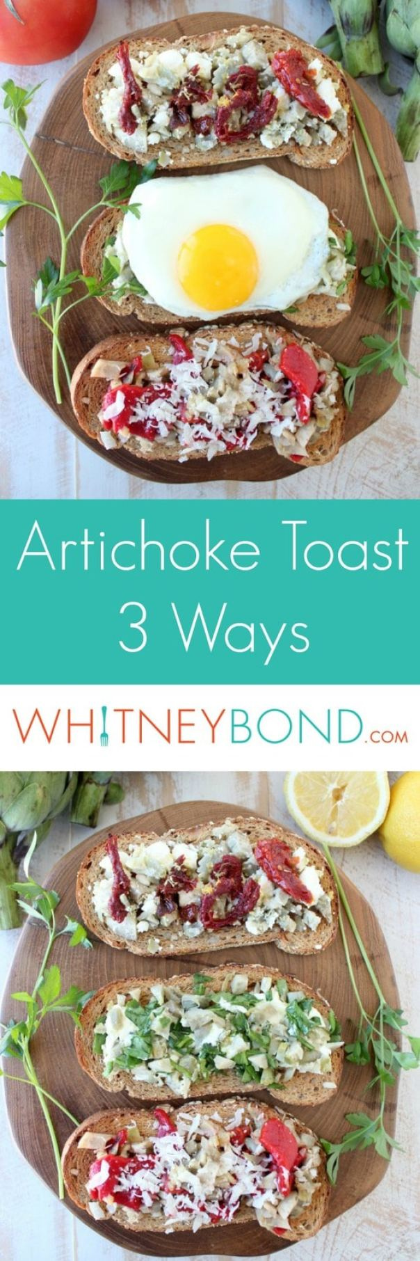 Artichoke Toast Recipe 3 Ways