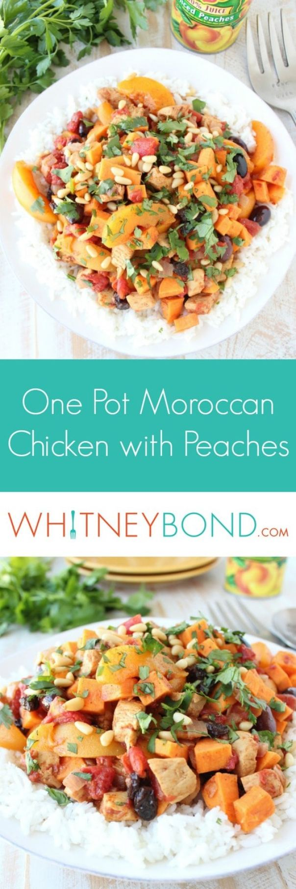 One Pot Moroccan Chicken and Peaches Recipe