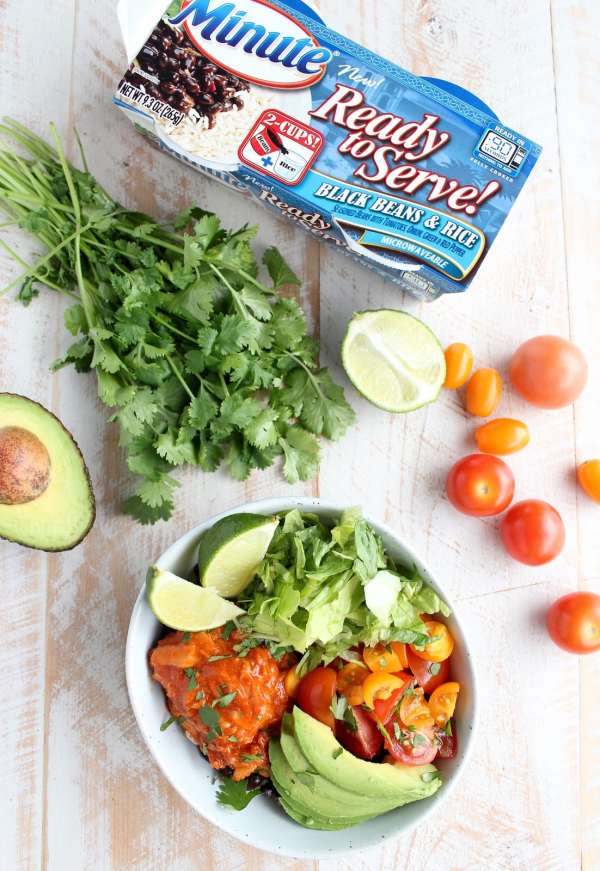 5 Minute Salmon Taco Rice Bowl Recipe