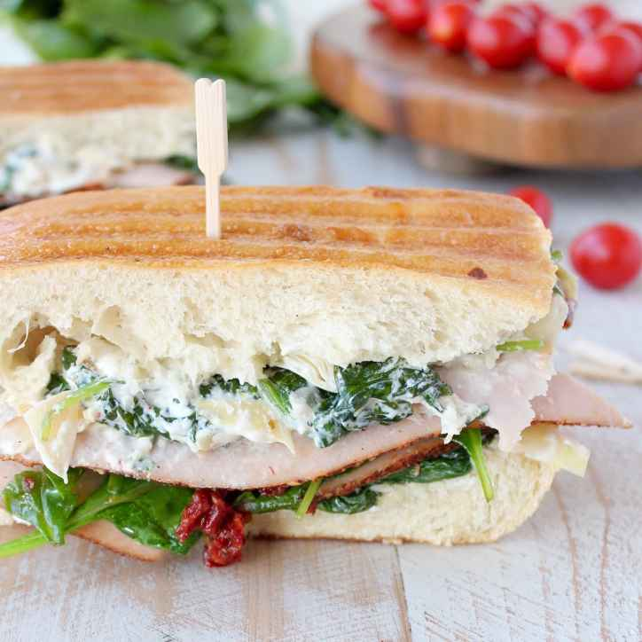 Spinach Artichoke Turkey Panini Recipe